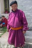 A visitor to Erdene Zuu Monastery, Kharkhorin, Mongolia
