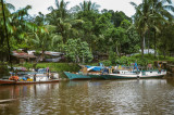 Sleepy river port at Pomako, near Timika, West Papua