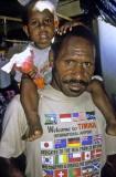 Father and son, Tembagapura, Indonesian Papua