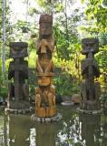 Kamoro totems at the Sheraton Timika