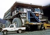 Ore haul truck at the Grasberg mine