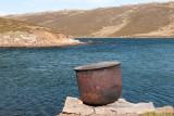 Cooking pot for producing Penguin oil - Kookpot om Pinguïnolie te produceren