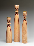 Set of three candle sticks made from Maple and Purple Heart.