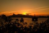 Pôr do sol no Rio visto da Ilha da Boa Viagem