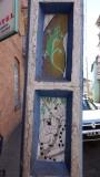 Light pole art in downtown Antananarivo