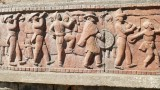 Carvings on building in upper Antananarivo