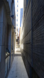 Super skinny alley behind the Hilton in the Financial District
