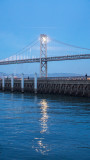 Moonrise behind the Bay Bridge