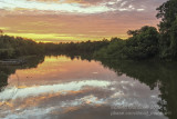 Sunset on the Cuiaba River, south of Porto Jofre (Mato Grosso)