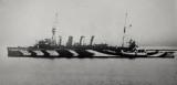 1918 photograph of HMS Southampton in dazzle scheme, author's collection