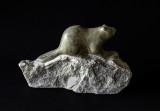Marmot, Inuit  Soapstone Carving