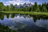Reflection at Schwabacher Landing, Grand Teton National Park, WY