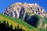 Thrust fault in an anticlinal fold, Canadian Rockies, Peter Lougheed Provincial Park, Alberta, Canada