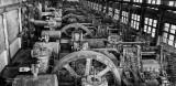 Giant flywheels at Bethlehem Steel, Pennsylvania.