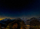Starry night in the southern Swiss Alps