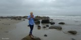 Paulette in TAI CHI  pose on overcast  morning.