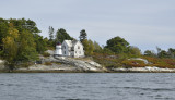 Perking Head Light as seen by boat from the town of  Bath Maine