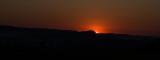 Sunrise over Peak Hill from our garden