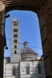 Siena. The Duomo seen through the Facciatone Arch