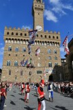 Firenze  Flying the Contrade´s Flags