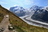 Zermatt. Hiking in ghe Gornergletscher area