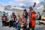 Traditional music at Gornergrat Station