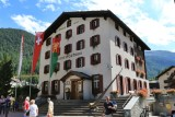 Zermatt. Gemeindehaus and the Alphorn