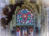 Eglise St Maclou, rosace