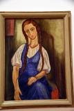 Portrait of a Girl (ca. 1925) - Moshe Castel - 2559