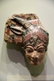 Antefix depicting the head of Juno Sospita - 500-475 BCE - Etruria - 4193