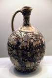 Garrus-ware ewer with carved decoration - 12th-13th c. - Iran - 4205