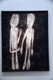 Two People on a Black Background (1957) - Jean Dubuffet - 4595