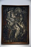 Father Seated in Armchair (1960) - Leon Kossoff - 4608