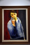 Self-Portrait with a Pipe (ca. 1918) - Moise Kisling - 4627