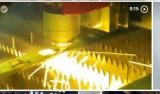 fiber laser cut metal  inox  brass