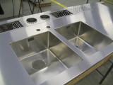 stainless steel countertop  custom made in italy