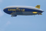 Goodyear Blimp waiting for the flyover
