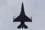 Air Force F-16 Fighting Falcon flying tribute