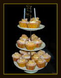 Birthday cake of cup cakes
