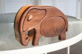 elephant bandsaw box front