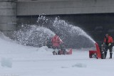 Removing snow from the Rideau River