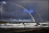 Pacific Coastline Double Rainbow