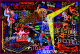 Fremont Street East Neon Montage