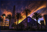 Luxor Fiery Sunset