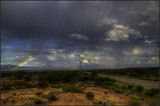 Arizona Desert Monsoon Rainbow