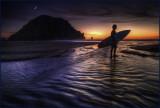 Sunset Surfer Morro Bay