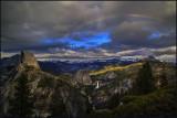 Glacier Point Stormy Rainbow