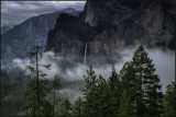 Yosemite Valley Misty Bridalveil Falls