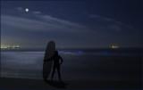 Blue Tide Moonlight Surfer