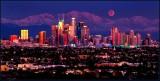 LA Winter Moonrise